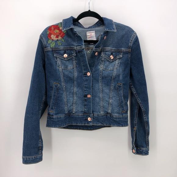 209279eceaf Lularoe Jackets & Coats | Harvey Denim Jacket Flowers S | Poshmark